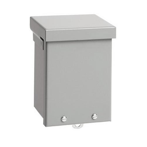 Hoffman A8R84NK NEMA 3R Polyester Powder Paint Galvanized Steel Screw Cover Enclosure 8 Inch x 4 Inch x 8 Inch ANSI 61 Gray