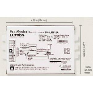 Lutron TVI-LMF-2A Lighting Interface 120 - 277 Volt AC Input 0 - 10 Volt DC Output 25 Milli-Amp EcoSystem®