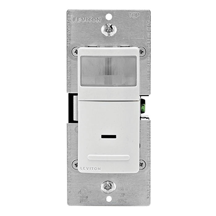 Leviton IPV05-1LZ PIR Universal Occupancy/Vacancy Sensor 900 Sq-ft ...