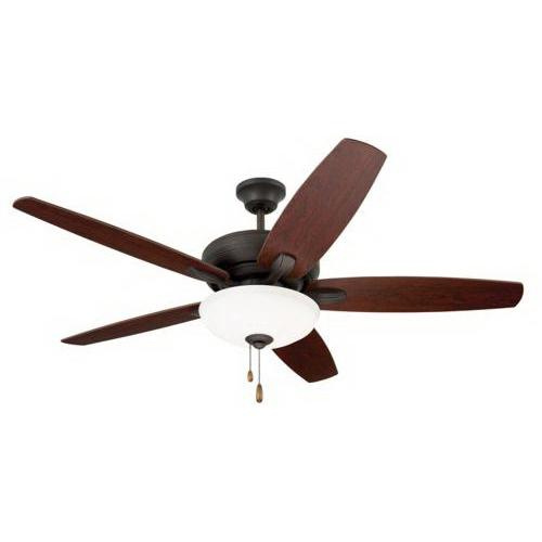 Emerson CF717ORB Ashland Ceiling Fan With Light 52 Inch 5 Blade 3 Speed Oil Rubbed Bronze
