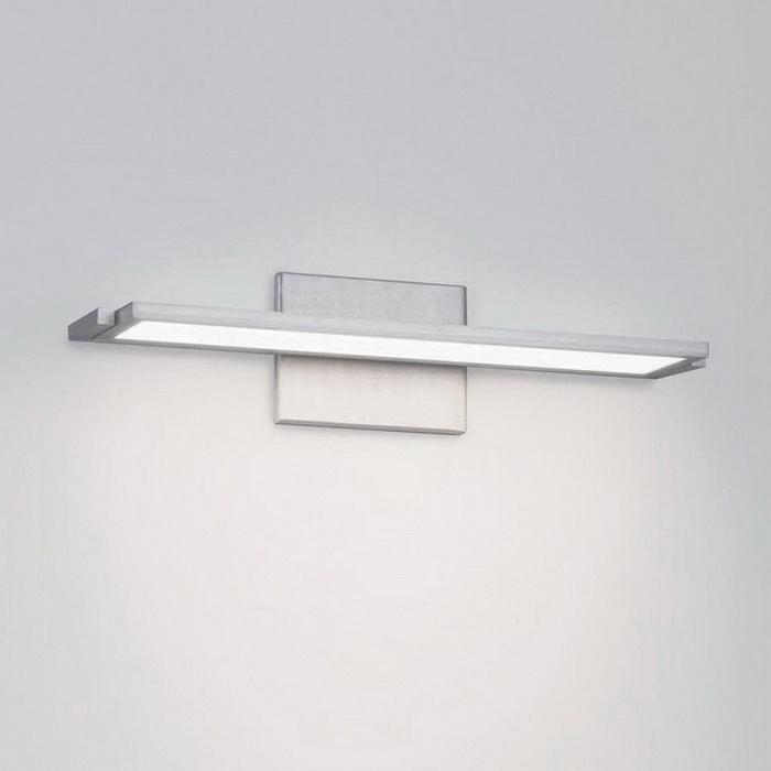 WAC Lighting WS-6718-30-AL 1-Light Small LED Vanity Light 16 5-Watt  120-Volt Brushed Aluminum dweLED™ Line™