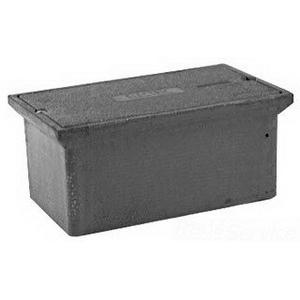 Quazite PC1324BA12 Precast Polymer Concrete Fiberglass Reinforced Straight Underground Concrete Box With Standard Open Bottom 24 Inch x 13 Inch x 12 Inch