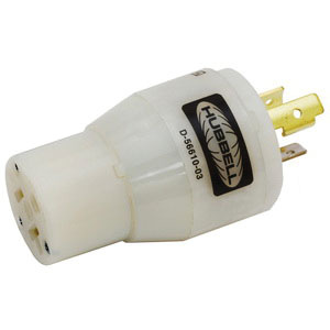 Hubbell-Wiring HBL2129 3-Wire 2-Pole Plug-In Convenience Adapter 125 ...