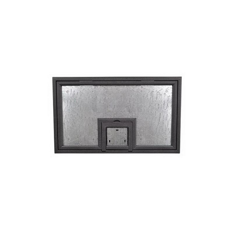 FSR FL-600P-PLP-BLK-CU Steel U-Access Floor Box Cover With 1/4 Inch Painted Beveled Flange (Lift Off Door) 14 Inch x 0.125 Inch x 12.5 Inch FL-600 Series