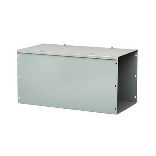 Hoffman F66G120 ANSI 61 Gray Polyester Powder Coated 14/16 Gauge Steel Straight Section Lay-In Wireway 120 Inch x 6 Inch x 6 Inch
