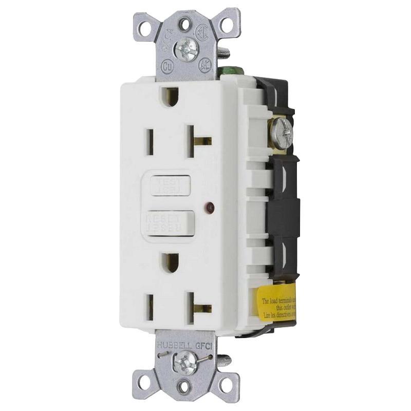 Hubbell-Wiring GF20WLA Commercial Grade Standard GFCI Duplex ...