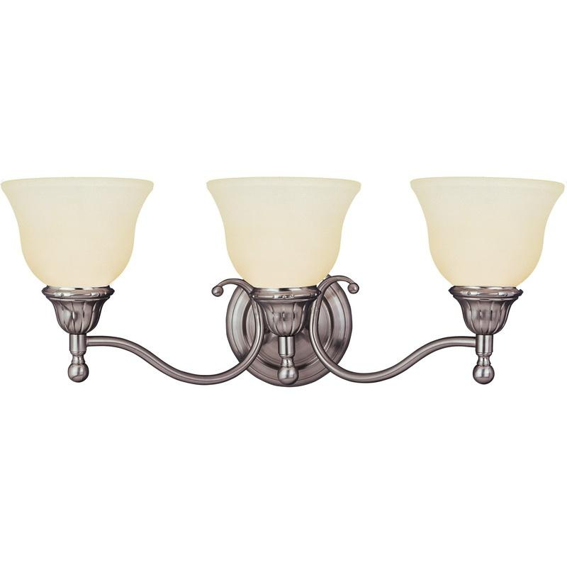 Maxim Lighting 11058SVSN 3-Light Classic Up/Down Mount Bath and Vanity Fixture 100 Watt 120 Volt Satin Nickel Soho