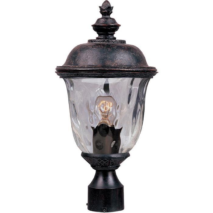 Maxim Lighting 3426WGOB 1-Light Outdoor Pole/Post Lantern 100 Watt 120 Volt Oriental Bronze Carriage House DC