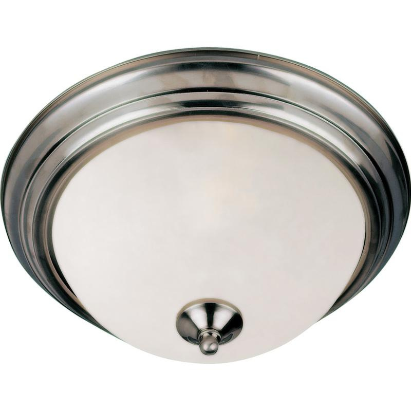 Maxim Lighting 5841FTSN 2-Light Flush Mount Ceiling Fixture 60 Watt 120 Volt Satin Nickel Essentials - 584x