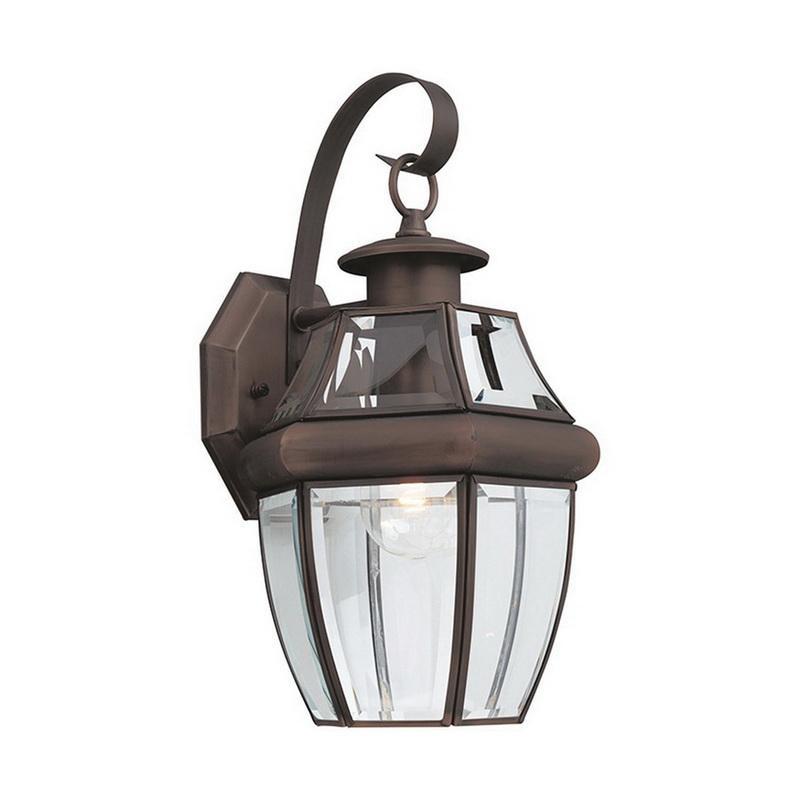 Sea Gull Lighting 8067-71 1-Light Outdoor Wall Lantern 100 Watt 120 Volt Antique Bronze Lancaster