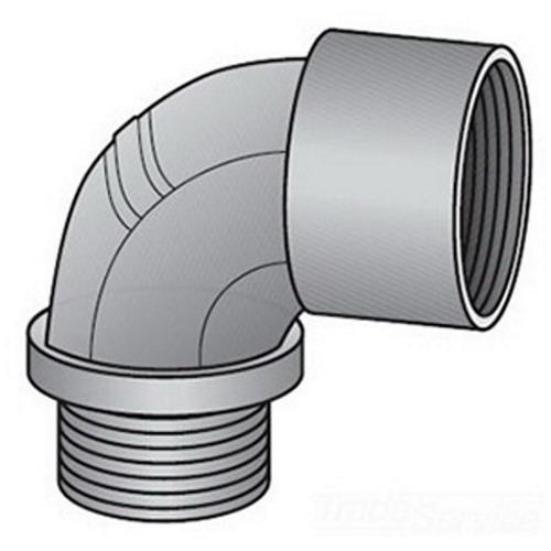 Emerson 8-75 Malleable Iron Type 8 Non-Insulated 90 Degree Short Conduit Elbow 3/4 Inch OZ Gedney