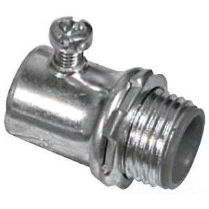 Topaz Electric 632SI Zinc Plated Steel Insulated EMT Compression Connector 3/4 Inch