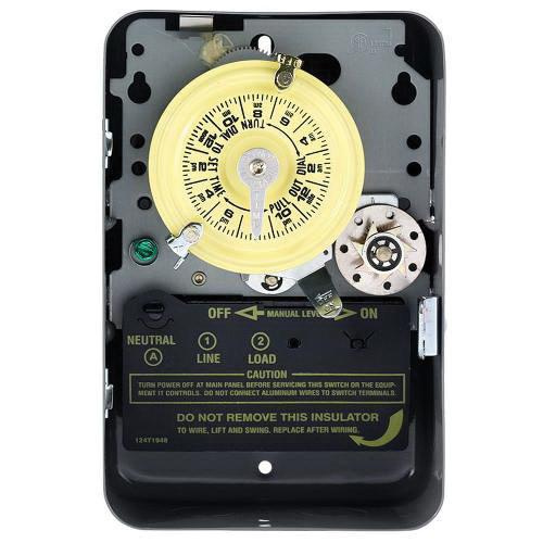 Intermatic T171 ON/OFF T170 Series Mechanical Timer Switch With Skip-A-Day 120 Volt AC 40 Amp 24 Hour