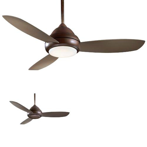 Minka-Aire F517-ORB Concept I Ceiling Fan With Light 52 Inch 3 Blade 3 Speed Oil Rubbed Bronze