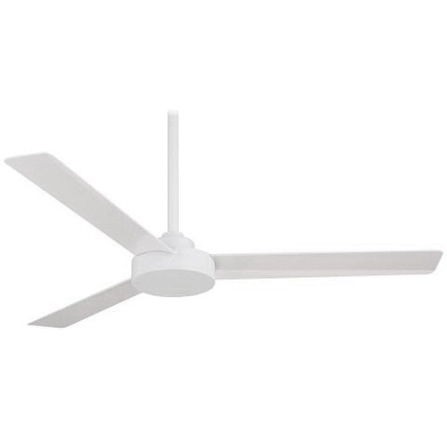 Minka aire f524 whf ceiling fan 52 inch 3 blade flat white ceiling minka aire f524 whf ceiling fan 52 inch 3 blade flat white aloadofball Image collections