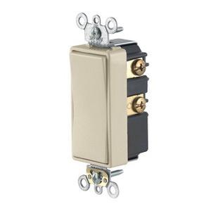 Leviton 56081-2I 24-Volt 3-Amp 1-Pole Rocker AC Quiet Switch Ivory Decora  Plus™
