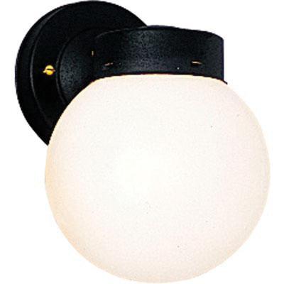 Progress Lighting P5604-31 1-Light Wall Sconce 100 Watt 120 Volt Black Powder Coated Utility