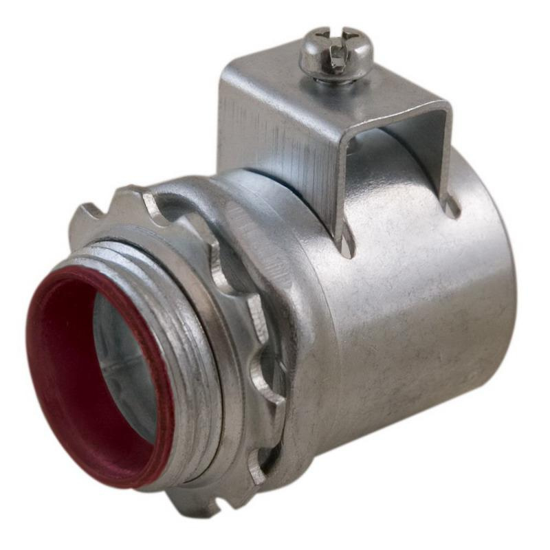 Topaz Electric 634TBS Steel Insulated Throat Straight Top-Bite Connector 1-1/4 Inch