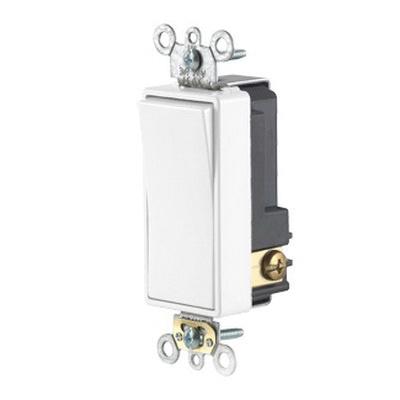 Leviton 56021-2W 1-Pole 24-Volt AC/DC 3-Amp Low Voltage Commercial Grade  Quiet Rocker Switch White Decora Plus™
