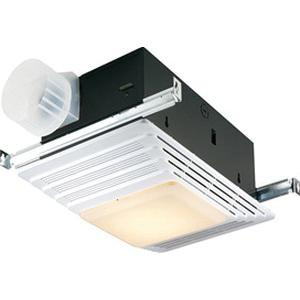 Nutone 655 Bathroom Fan With Light And Heater 120-Volt 70 CFM at 0 10-Inch  Static Pressure White Broan®