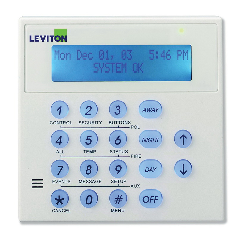 Leviton 33A00-1 Security Keypad LED Display Console Omni