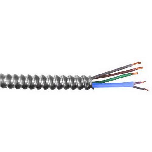AFC Cable Systems 18BF-42-500 Copper Conductor Aluminum Armored 1TPJ MC Cable 12/2 16/2 (TPJ) 250 ft Coil Purple/Gray Black/White/Green MC Luminary Cable™ MC Lite®