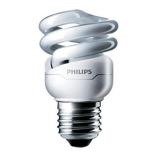 Philips Lighting 413988 EL/mdTQS T2 Energy Saver Compact Fluorescent Lamp 9 Watt E26 Medium Base 550 Lumens 81 CRI 2700K Warm White