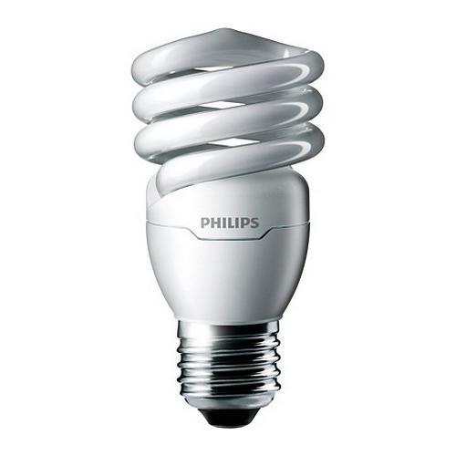 Philips Lighting 414037 EL/mdTQS T2 Energy Saver Compact Fluorescent Lamp 13 Watt E26 Medium Base 900 Lumens 81 CRI 4100K Cool White