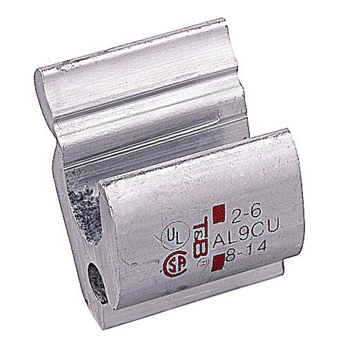 Thomas & Betts 63169 Aluminum H-Tap Compression Connector 750 KCMIL-4/0 AWG Run 4/0 AWG-750 KCMIL Tap Color-keyed®