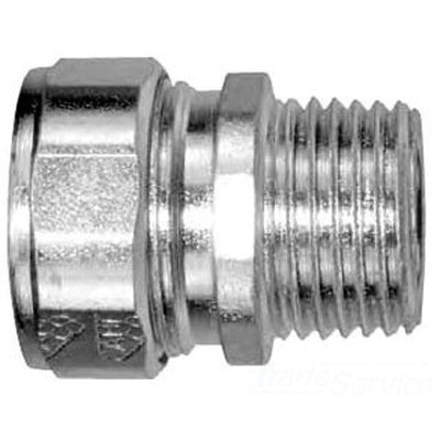 AMFI CG50A560 Zinc Plated Steel Straight Specification Grade Strain Relief  Cord Connector 1/2-Inch 0 45 - 0 56-Inch Spec-Grade™