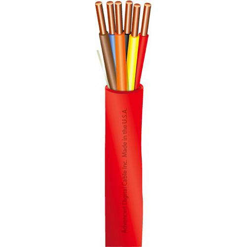 Advanced Digital Cable 81402 Solid Bare Copper Unshielded Riser Rated Fire Alarm Cable 14/2 Red