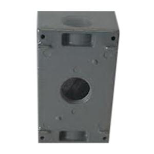 Orbit Industries 1DB75-3 Powder Coated Die Cast Copper Free Aluminum 1-Gang Weatherproof Outlet Box 2-3/4 Inch x 4-1/2 Inch x 2-5/8 Inch 23.8 Cubic-Inch