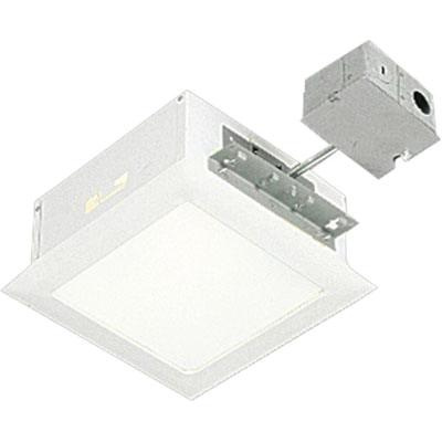 Progress Lighting P6414 30tg Non Ic 8 Inch Square Recessed Complete Housing And Trim 1 Light White