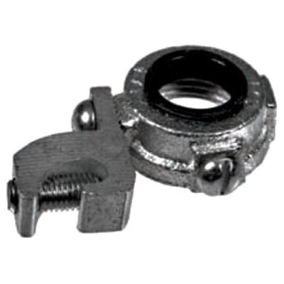 Topaz Electric 331M Malleable Iron Insulated Grounding Bushing With Aluminum Lay-In Lug 1/2 Inch
