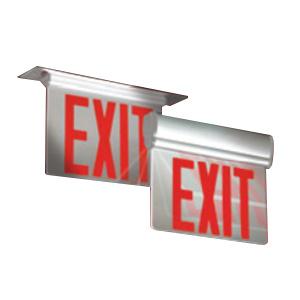 Lightalarms 6uearm Ac Led Edge Lit Exit Sign Red Letter