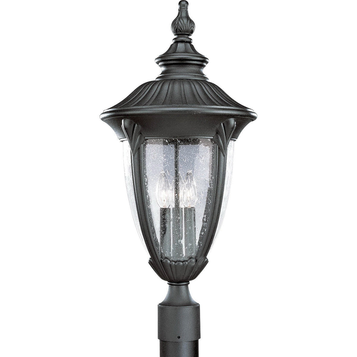 Progress Lighting P5420-31 3-Light Outdoor Post Lantern 60 Watt 120 Volt Textured Black Painted Meridian