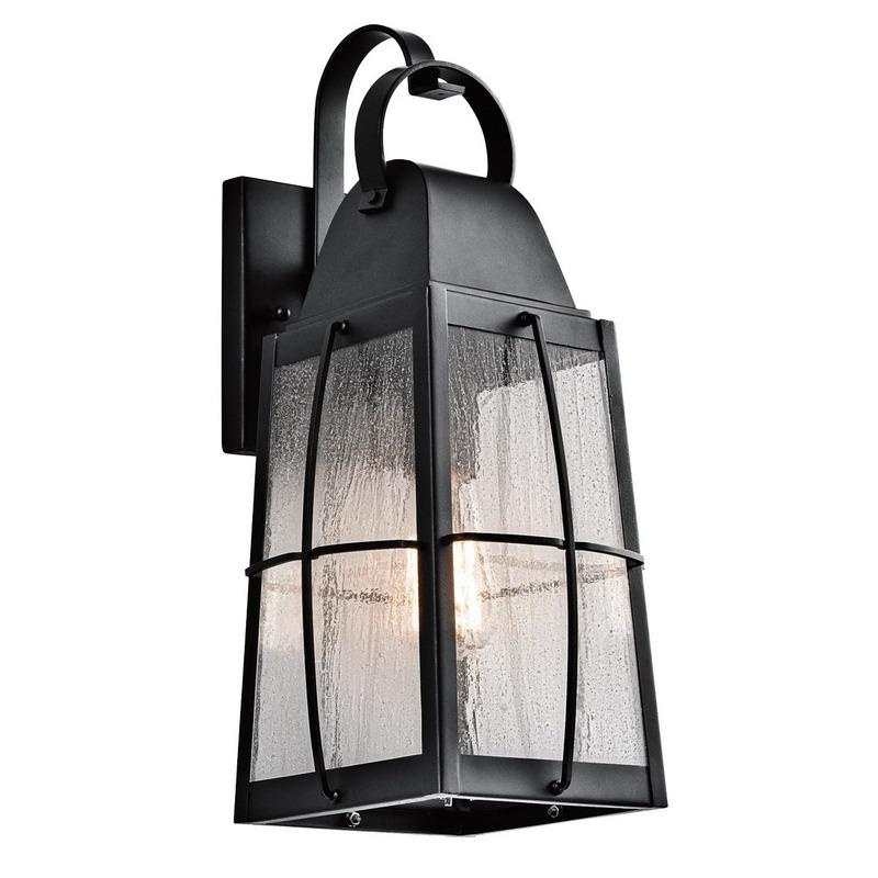 Kichler 49553BKT 1-Light Outdoor Wall Lighting 100 Watt 120 Volt Textured Black Tolerand