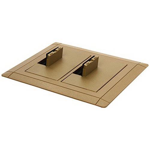 Thomas & Betts E9762C Thermoplastic 2-Gang Non-Metallic Open Floor Box Cover With Carpet Flange 7.13 Inch x 8.25 Inch Carlon®