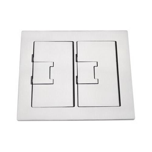 Thomas & Betts E9762SS Light Lacquer Stainless Steel 2-Gang Floor Box Cover 7.13 Inch x 8.25 Inch Carlon®