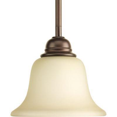 Progress Lighting P5160-20 1-Light Ceiling/Stem Mount Mini Pendant Fixture 100 Watt 120 Volt 7-1/8 Inch Antique Bronze Spirit