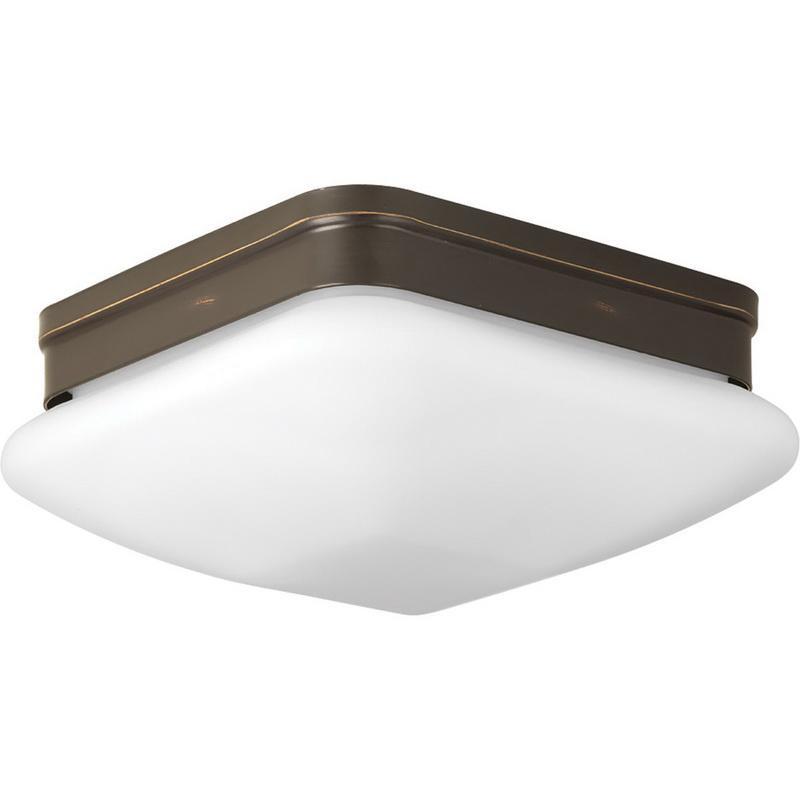 Progress Lighting P3549-20 2-Light Close To Ceiling/Flush Mount Ceiling Fixture 60 Watt 120 Volt Antique Bronze Appeal
