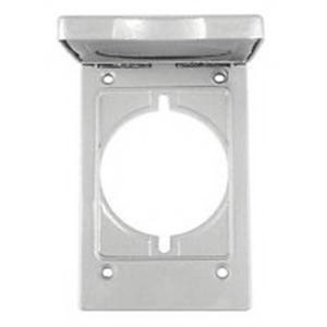 Orbit Industries 1C-SV Powder Coated Die Cast Zinc 1-Gang Weatherproof Device Cover 2-3/4 Inch x 4-1/2 Inch
