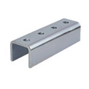 Unistrut P1377EG Electrogalvanized 1/4 Inch Steel 4 Hole U Shape Fitting
