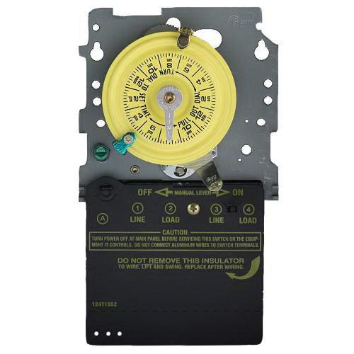 Intermatic T101M ON/OFF T100 Series Mechanical Timer Switch 120 Volt AC 40 Amp 24 Hour