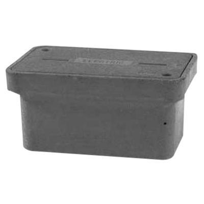 Quazite PG2436BA18 Precast Polymer Concrete Fiberglass Reinforced Straight Underground Concrete Box With Standard Open Bottom 36 Inch x 24 Inch x 18 Inch