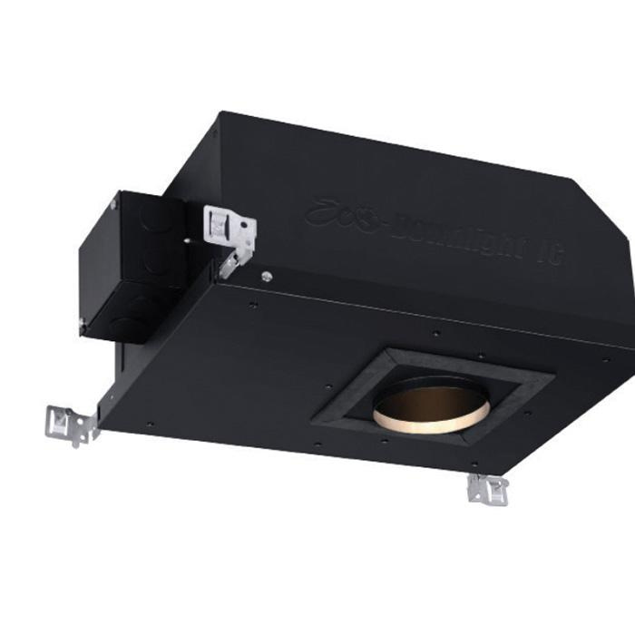 CSL Lighting EDL-ADJ-30-4-IC/ADJ New Construction Adjustable IC Air-Tight 3 Inch LED Recessed Eco-Down Light Housing 120 - 277 Volt Black Powder Coated