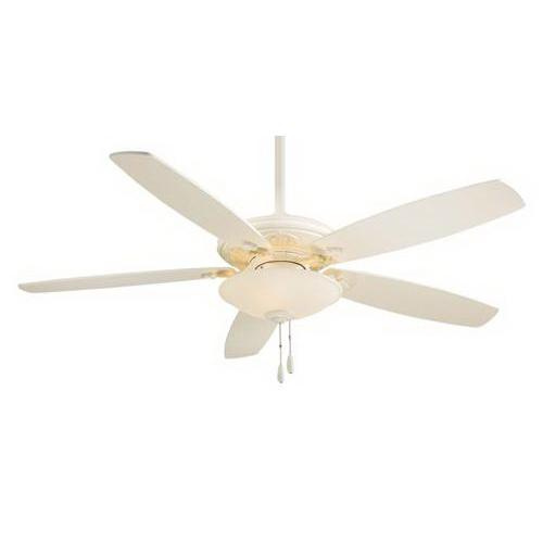 Minka-Aire F622-BWH Traditional Mojo Ceiling Fan With Light 52 Inch 5 Blade 3 Speed Bone White