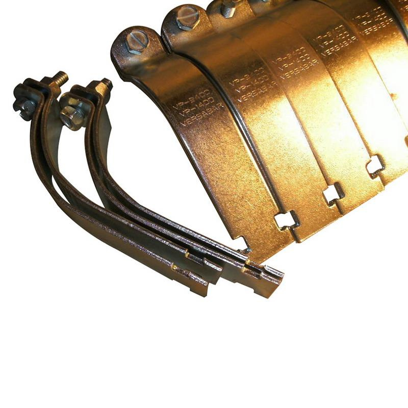 Versabar VP-1100 Electrogalvanized 14 Gauge Malleable Iron Pipe Clamp 1 Inch Rigid