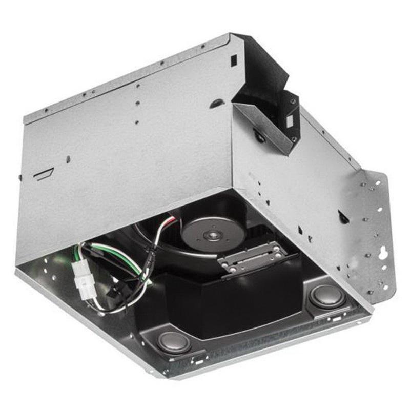 Nutone SPK110 Speaker Fan 4 Inch Duct 110 CFM at 0.1 Inch Static Pressure 90 CFM at 0.25 Inch Static Pressure Broan® Sensonic™