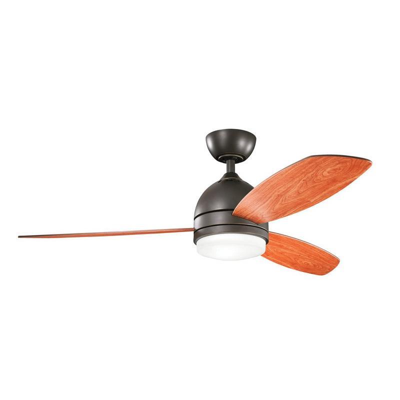 Kichler 300175OZ Vassar Indoor Ceiling Fan With Light Kit 52 Inch 3 Blade Olde Bronze